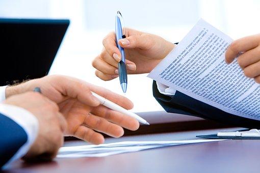 Laptop, Birou, Mână, Scris, Afaceri