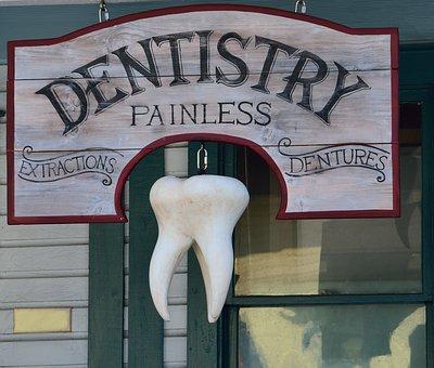 Vechi, Semn Dentist, Signage, Fundal